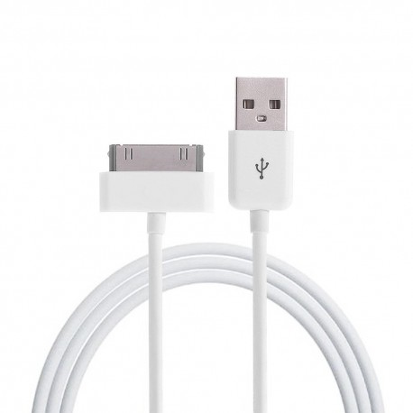 CABLE USB IPHONE 3G 3GS 4 4S IPOD NANO TOUCH WHITE 1M COPY